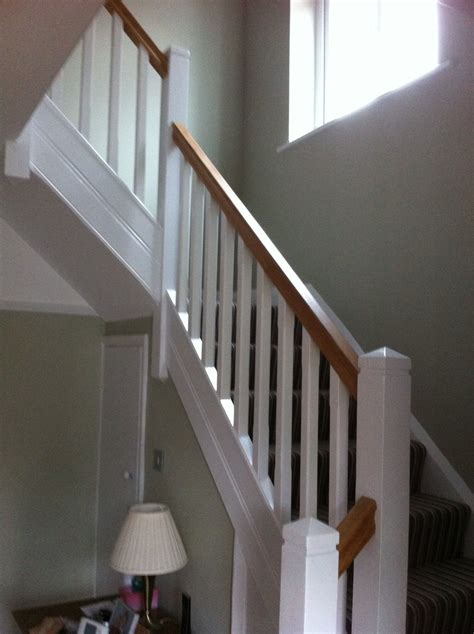 Oak Banister Rails by Oak Handrail With White Spindles Search New