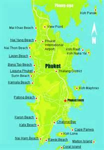 Phuket Island Thailand Map