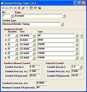 Service Entrance Wire Size Chart Elite Software Electrical Tools