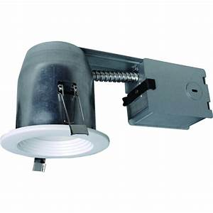 4 in led remodel recessed lighting kit : Utilitech pro white led remodel recessed light kit