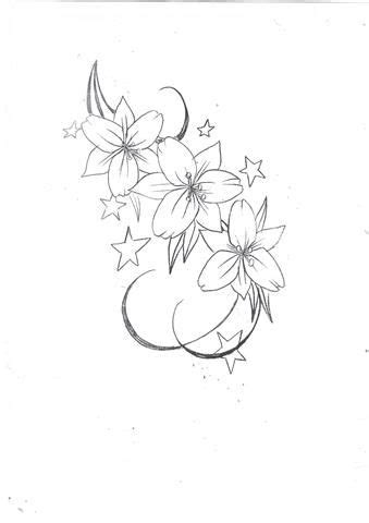 lily flowers  stars tattoo design tattoos star