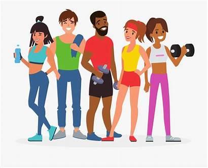 Fitness Clipart Gym Cartoon Transparent Training Exercise