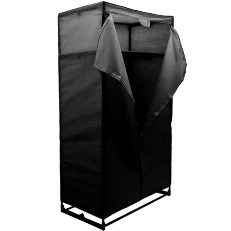 Black Clothes Wardrobe by Compact Wardrobe Clothes Storage With Canvas