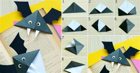fledermäuse basteln mit kindern fledermaus basteln lesezeichen papier origami buch