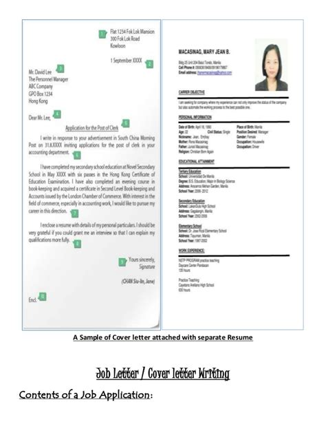 letter resume writing