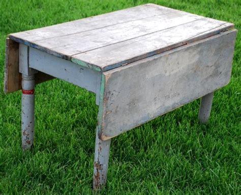 Antique Primitive Farmhouse Drop Leaf Coffee Sofa Table
