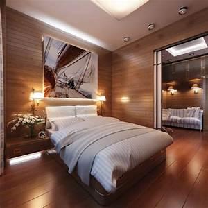 Deckenleuchten Für Schlafzimmer : modernes schlafzimmer interieur einrichtung f r reise enthusiasten ~ Eleganceandgraceweddings.com Haus und Dekorationen