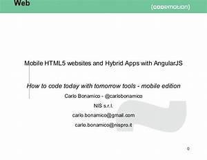 Mobile HTML5 Websites And Hybrid Apps With AngularJS
