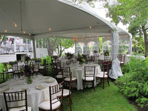 small black  gold afternoon tent wedding reception