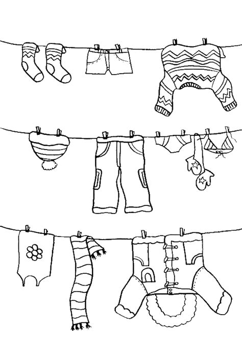 coloring cloth pictures color the winter clothes coloring pages winter