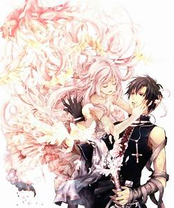 Coiffure Manga Garçon : render personnages renders couple fille garcon cheveux longs roses plumes tatouage robe gants ~ Medecine-chirurgie-esthetiques.com Avis de Voitures