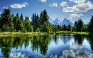 Nature, Hdr, River, Trees, Mountain, Landscape, Wallpapers