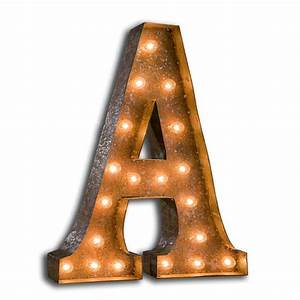 rusty 24 inch letter a marquee light by vintage marquee lights With marquee letter light bulbs
