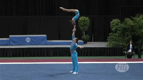 Sports Acro Wc  Usa Russia Mixed Pair