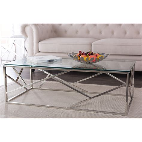 contemporary stainless steel table ls baxton studio fiona modern and contemporary stainless