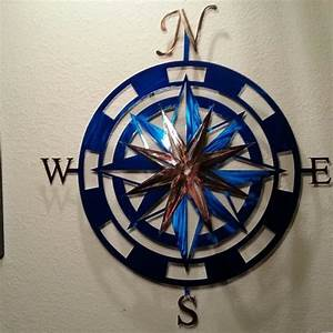 Buy a handmade inch metal compass rose wall art made