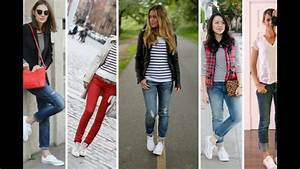 Outfits con jeans y tenis / Outfits con Jeans Moda 2017 - YouTube