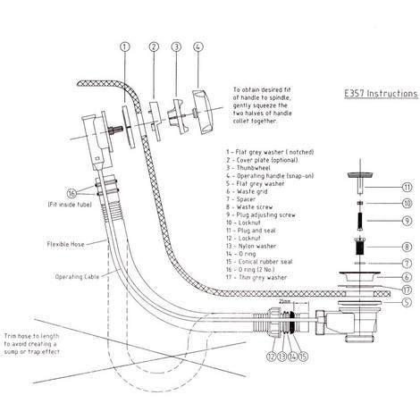 Bonde Baignoire  E357  Plomberie Sanitaire Chauffage