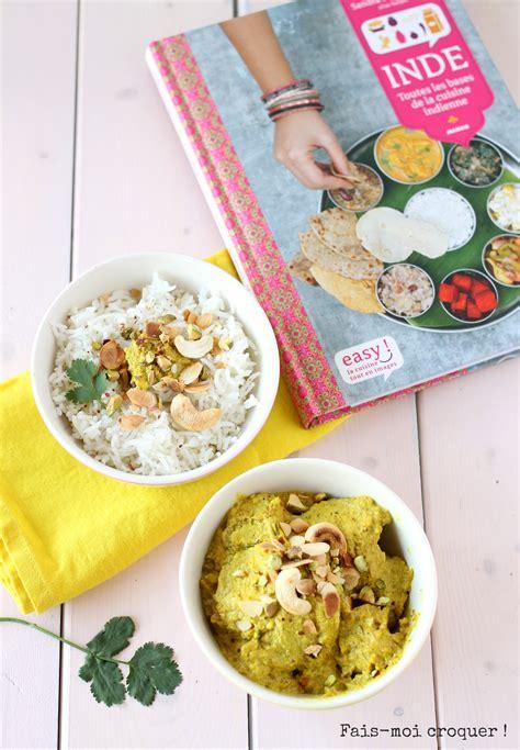 cuisine indienne poulet korma et livre de cuisine indienne de sanjee