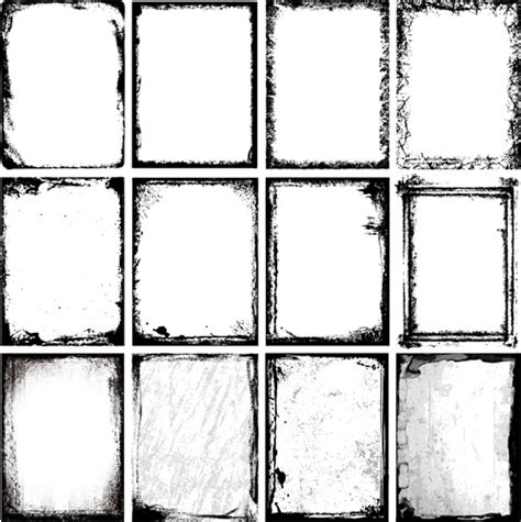 cornici per photoshop ink grunge frames vector vector frames borders free