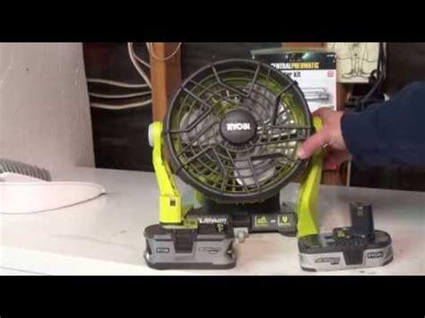 fans that run on batteries ryobi one 18 volt hybrid portable fan tool only p3320