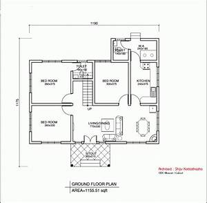 Simple house floor plan with measurements house floor plans for Simple house floor plans with measurements
