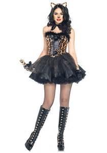 womens cat costume luxe leopard costume