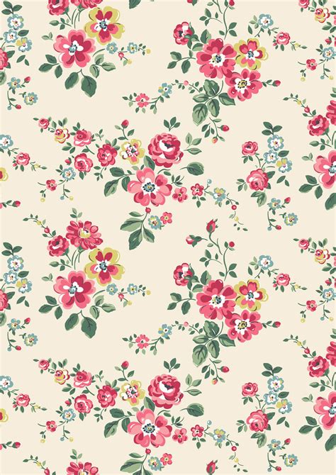 Wallpaper Cath Kidston by Thorp Flowers A Pretty Trailing Floral In Orchard