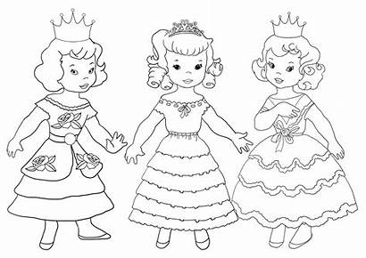 Coloring Princesses Princess Three Hear Stay Touch