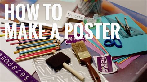 How To Make A Poster  Sources Of Strength  Youtube