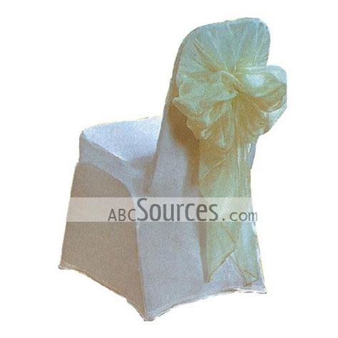 wholesale sweet and white satin banquet chair covers