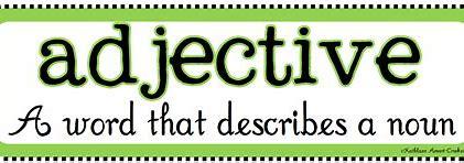 Resultado de imagen de adjectives