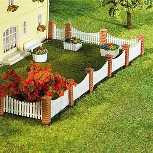 Cloture De Jardin : cl ture de jardin poteaux briques lames ajour es n faller ~ Premium-room.com Idées de Décoration