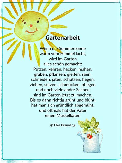 Der Garten Gedicht by Gartenarbeit Sommerzeit