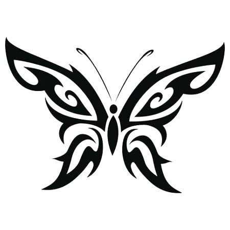 simple tribal butterfly tattoo design