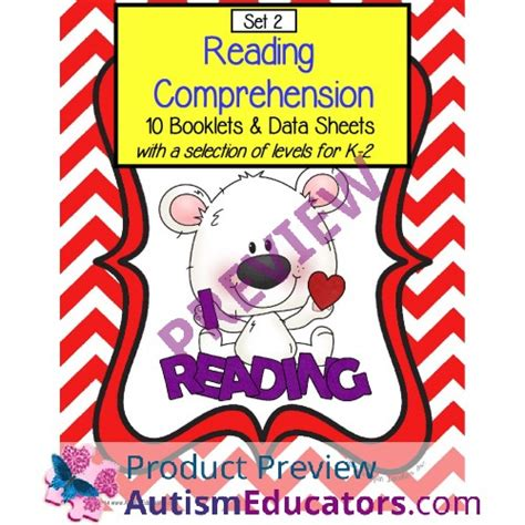 Autism Reading Comprehension Booklets And Data Sheets Set 2