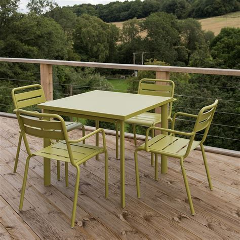Buy Garden Table And Chairs by Buy 4 Seat Florence Dining Set Green Delivery By Crocus