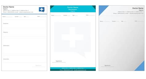 prescription template designs for prescription template indoclinic