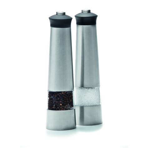 battery operated salt l battery operated stainless steel salt and pepper grinders
