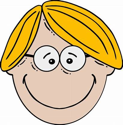 Boy Glasses Blond Clip Clipart Clker
