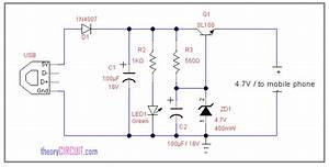 Usb Power Mobile Charger Circuit