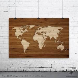 Carte Du Monde En Bois : carte du monde en bois cosprocare ~ Nature-et-papiers.com Idées de Décoration