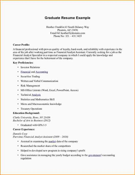 Time Employment Resume Template by Part Time Resume Resume Exles Resume Exle Professional Resume Exles Formats