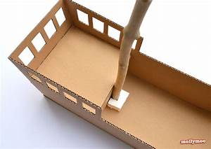 diy cardboard pirate ship With cardboard pirate ship template