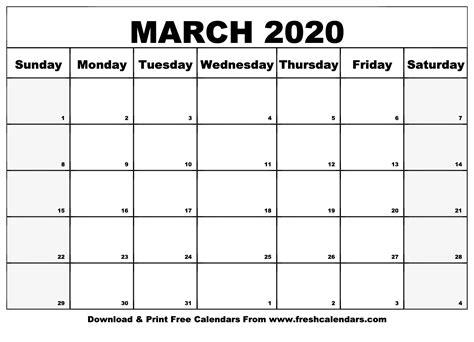 march calendar printable fresh calendars