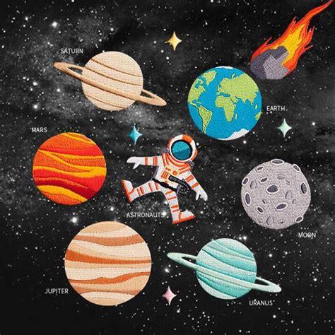 zotoone  style iron  universe astronaut planet patch