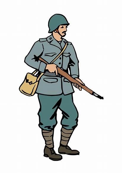 War Clipart Soldier Cartoon Cliparts Ww2 Clip