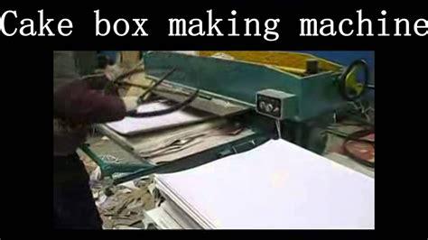 cake box making machine cake paper carton making