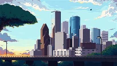Pixel Skyline Animation Anime Animated Wallpapers Gifs