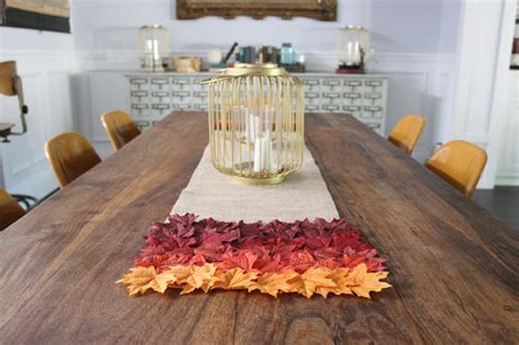 fall table runners to make fall burlap table runner allcrafts free crafts update